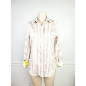Paperwhite Button Down Stripe Collared Shirt